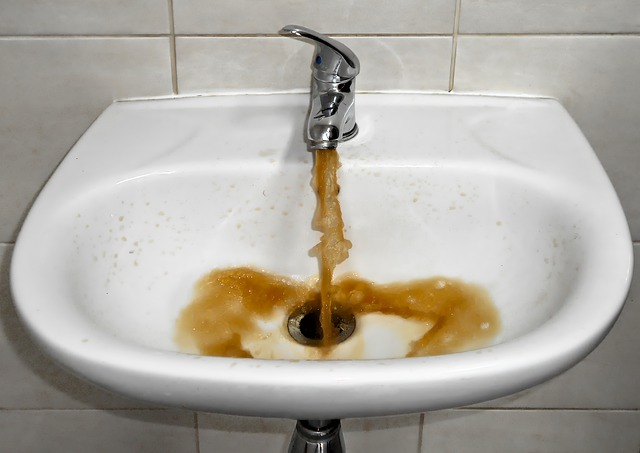 Discoloured Water from tap